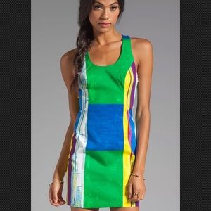 Anthropologie Tracy Reese Dress Cubist Watercolor